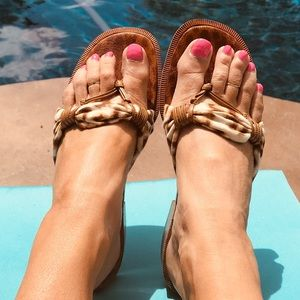 ESCADA designer Leopard print Sandals
